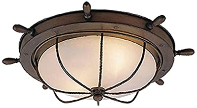 Orleans 15-Inch Outdoor Ceiling Light, Antique Red Copper