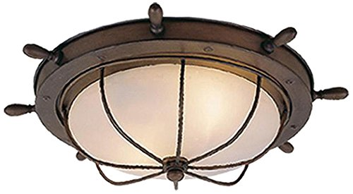 Outdoor Flush Mount Antique - Vaxcel OF25515RC Orleans 15-Inch Outdoor Ceiling Light, Antique Red Copper