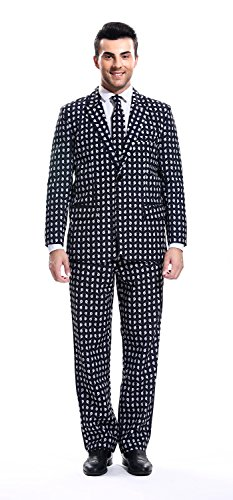 Man Halloween Costume Easy (YOU LOOK UGLY TODAY Mens Halloween Party Suit Scary Halloween Costume for Trick or Treat Halloween Festival)