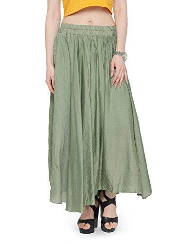 Linen Long Indian Elastic Handicrfats Band Cotton Maxi Bohemian Dress Style Women's Waist Export Skirt vWFzxqnv