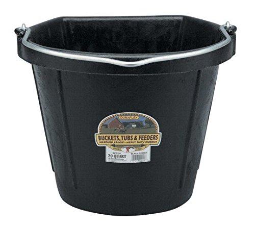 Amazon Com Little Giant Flat Back Rubber Bucket 5 Gallon Livestock Feeding Equipment Garden Outdoor