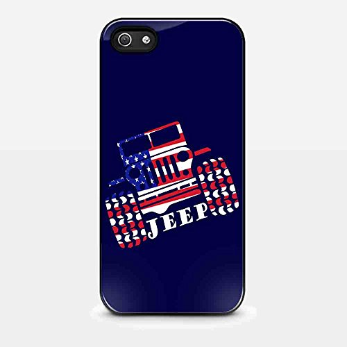 jeep logo american flag for iPhone 5/ 5s Black case