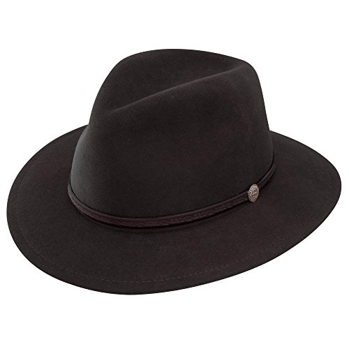 Stetson Dobbs TWCMWL-8824 Classic Mens Cromwell Crushable Cowboy Hat Black 7 1/2