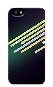 Dark Purple Background Simple Lines Custom Design iPhone 5S/5 Protective Case Cover - Polycarbonate
