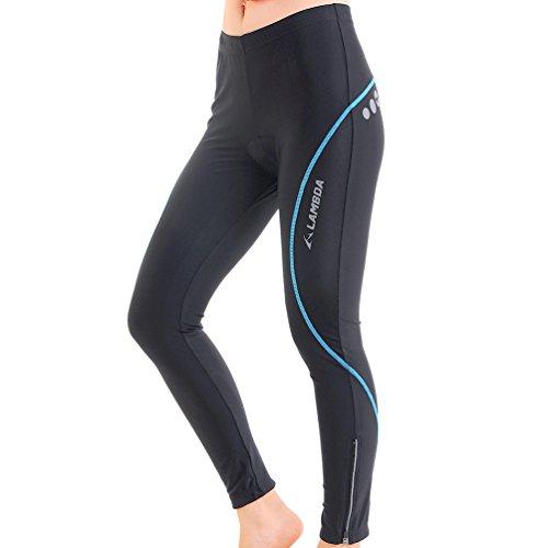 4ucycling Women's Slim Fit Cycling Tights Pants Gel Padded Black