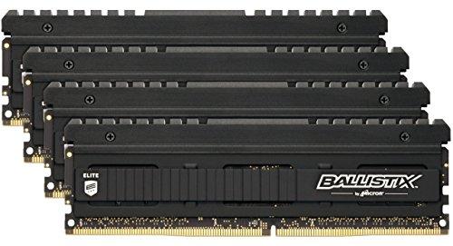 Crucial Ballistix Elite 4000 MHz DDR4 DRAM Desktop Gaming Memory Kit 32GB (8GBx4) CL18 BLE4K8G4D40BEEAK
