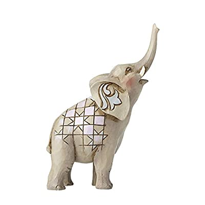 Department56 Enesco Jim Shore Mini Elephant w/Raised Trunk Figurine