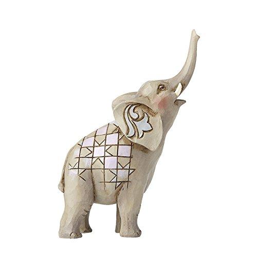 Elephant Collectible Figurine - Department56 Enesco Jim Shore Mini Elephant w/Raised Trunk Figurine