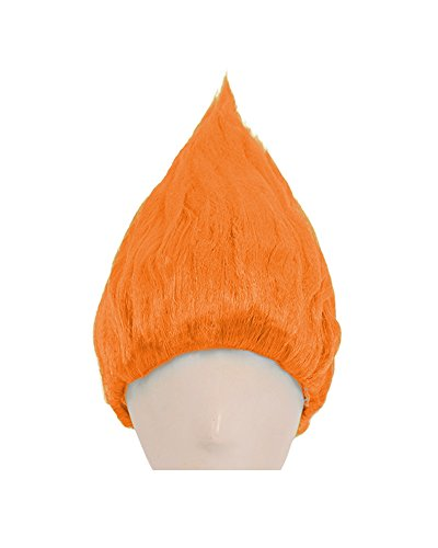 Cosplay.fm Pure Troll Wig for Men Cosplay Party (Orange)