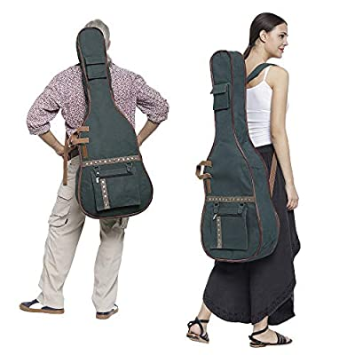 The House of Tara - Combat Blue Canvas Fabric Acoustic Guitar Bag 2
