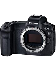 Canon EOS R volledig formaat systeemcamera behuizing + bajonettadapter EF- EOS R (spiegelloos, 30,3 MP, 8,01 cm (3,2 inch) Clear View LCD II display, DIGIC 8, 4K video, WLAN, Bluetooth), zwart