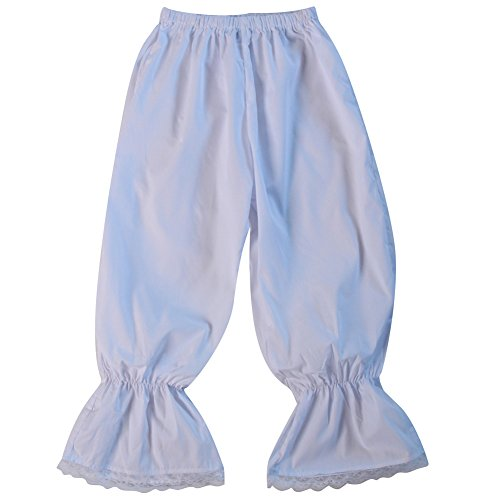 Teen / Women's White Pantaloons Bloomer Pettipants, Size Small (Costume Pantaloons)