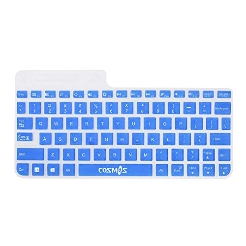COSMOS Ultra Thin silicone soft keyboard cover skin for Logitech Wireless Touch Keyboard K400 and K400r (Blue)