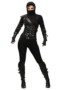 Womens Ninja Assassin Fancy dress costume Small: Amazon.es ...
