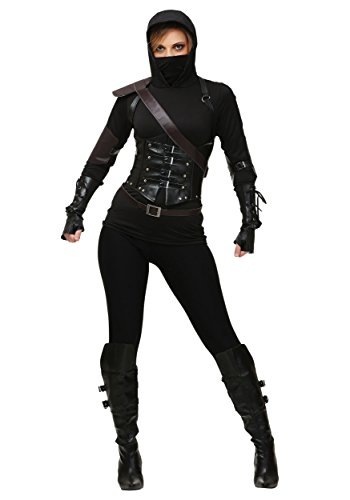 Fun Costumes Exclusive Women's Ninja Assassin Costume Set Medium Black]()