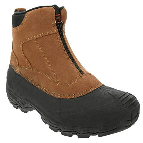London Fog Mens Holborn Waterproof and Insulated Cold Weather Snow Boot Brown 9
