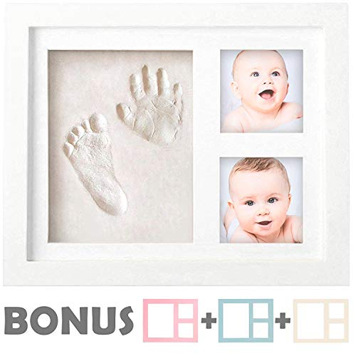 Baby Foot Print (Baby Handprint Kit  NO Mold  Baby Picture Frame, Baby Footprint kit, Perfect for Baby Boy Gifts,Top Baby Girl Gifts, Baby Shower Gifts, Newborn Baby Keepsake)