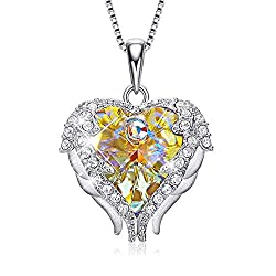 Pendant With Embellished Yellow With Sterling Silver Crystal from Swarovski