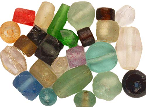 Curious Designs Beads - Recycled Glass, 24+ Pcs Asst, Rare, Hard to Find, Most Paired, Extras