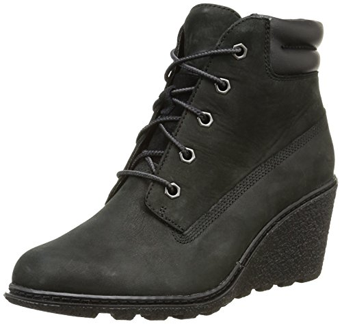 Amston Timberland EK Donna Black 6in Stivali qw41Z45F
