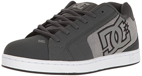 Dc Mens Net Se Skateboarding Shoe  Grey Ash  9 D Us