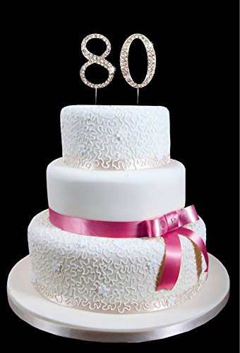 80th Birthday Wedding Anniversary Number Cake Topper with