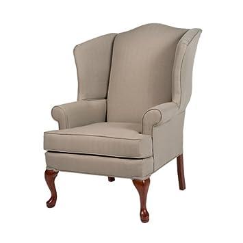 Comfort Pointe Erin Beige Wing Back Chair 485943,