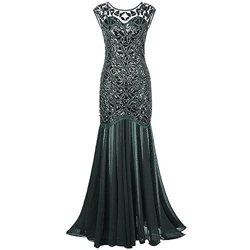 Long Green Sequin Dress: Amazon.com