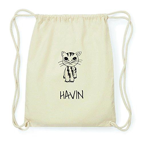 JOllipets HAVIN Hipster Turnbeutel Tasche Rucksack aus Baumwolle Design: Katze CdzQUbrZW7