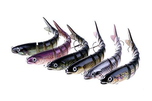 Bylan Multi Jointed Life-like Swimming as Life Fish Swimbait Hard Fishing Lure Bass Bait 1#