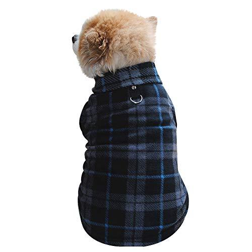 Suma-ma Polar Fleece Dog Pajamas with D-Ring PJS Plaid Camo Solid Pet Turtleneck Clothe ()
