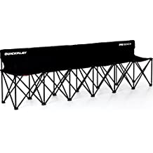 QuickPlay PRO Folding Bench – 4 Seats / 6 Seats / 9 Seats – Build to Last Sideline Bench, Soccer Bench, or Sports Team Bench – New Improved 2018 Design –