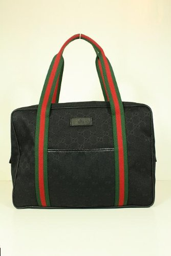 Amazon.com Gucci Handbags Black with Green Red Green 189753