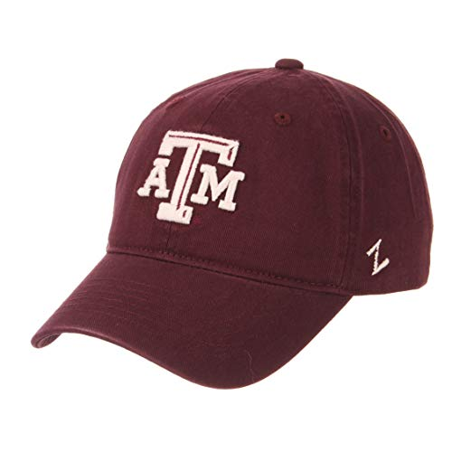 Zephyr NCAA Mens Relaxed Fit Scholarship- Adjustable Cotton Crew Hat Cap-Texas A&M Aggies