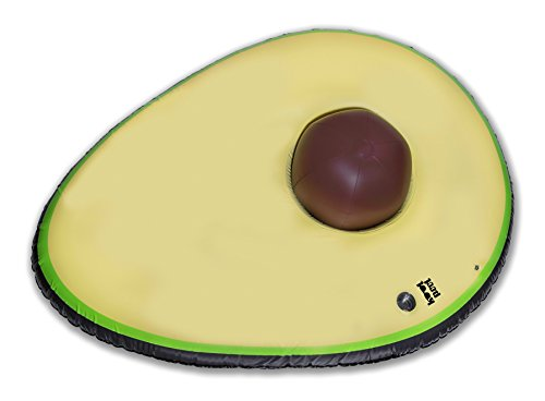 """Price comparison product image Kool Pool - Sit In The Pit - Giant Premium Inflatable Avocado Pool Float Mattress Lounger With Removable Beach-Ball """"Pit"""" - 78 inches = One HUGE Awesome Avocado Float"""