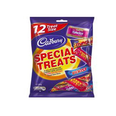 Cadbury Share Pack Special Treats 195g | Crunchie, Cherry Ripe, Turkish Delight, Boost | Made in Australia (12 Pack) | Filled with Australia's Favorite Treats! ()