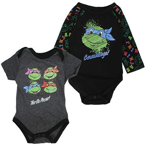 Ninja Turtles Infant Boys 2-Pack Creeper Set (0-3 Month)]()