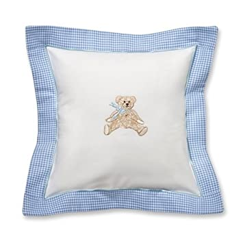 Almohada bebé, arco azul de peluche