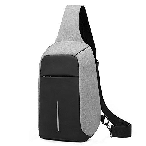 [해외]럭셔리 캐주얼 도난 방지 슬링 숄더 백 방수 Crossbody 여행용 숄더 백/LUXUR Casual Anti-theft Sling Chest Bag Waterproof Crossbody Travel Shoulder Bag
