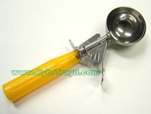 Winco ICD-20 No.20 Ice Cream Disher with Plastic Handle, Yellow (2-Pack)
