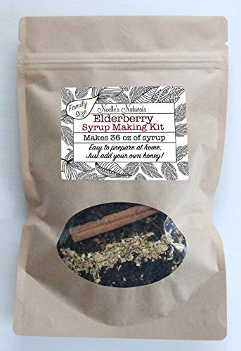 Elderberry Syrup Kit Family Size - Makes 36oz - Easy to make at home - Just add your own honey - DIY - Natural Remedy - Black Elderberries