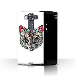STUFF4 Phone Case / Cover for LG V10/H900/H901/VS990 / Cat Design / Ornamental Animals Collection
