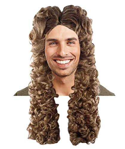 Halloween Party Online Nobleman Wig, Brown Adult HM-295A ()