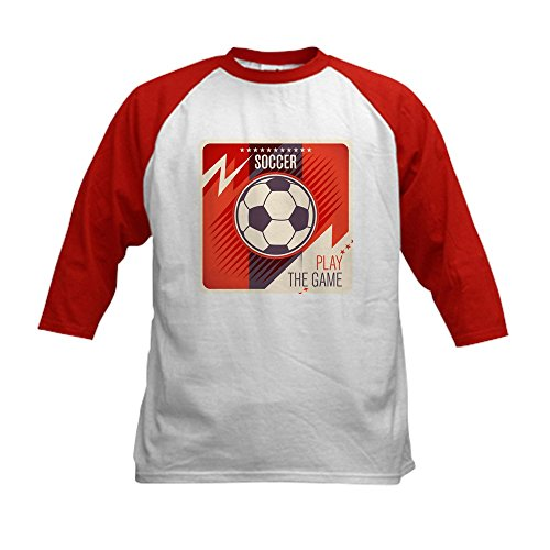 Royal Lion Kids Baseball Jersey Soccer Football Play The Game Red - Red/White, Large (14-16)