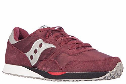 Saucony chaussures baskets sneakers homme en Nylon dxn trainer bordeaux