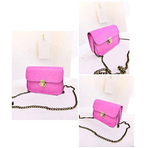hombro del de Moda verde de bolsa Mini Bolsas cuero de de cuerpo de color cruzado de cadena PU TOOGOO mujer mensajero caramelo Bolsa rosa Nuevo de qwzpcAH