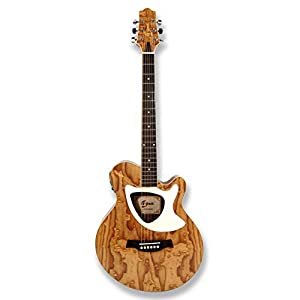 "39"" Acoustic Electric Cutaway Guitar, Thin Body, Built-In Tuner,ashwood gloss natural finish body 41lHl1JCqWL"