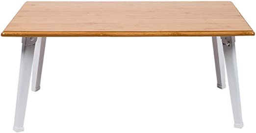 Mesas de centro MEIDUO Mesa de Escritorio Plegable de bambú del ...