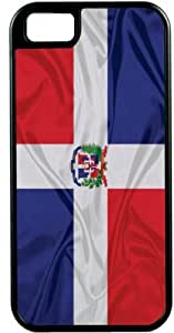 Rikki KnightTM Dominican Flag Black Tough-It Case Cover for iPhone5 & 5s (Double Layer case with Silicone Protection) by lolosakes by lolosakes