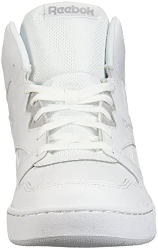 41lHm4d weL. AC Reebok Men's BB4500 Hi 2 Sneaker, White/Light Solid Grey, 10    Reebok Men's Royal Bb4500 Hi2 Sneaker helps you show your respect for the game while keeping classic, everyday style on point. These mid-cut, basketball-inspired men's shoes are sure to be an instant favorite, with a blended leather and mesh upper weighing in for heritage comfort. Plus, a removable sockliner helps keep feet happy all day long. ImportedRubber soleShaft measures approximately mid-top from archDURABLE AND LIGHTWEIGHT MATERIAL: These game sneakers feature leather and mesh upper for a blend of support and breathabilityEFFICIENT FOOT SUPPORT: These stylish trainers feature high abrasion rubber outsole adds durable responsiveness and lasts many jogs and gamesREMOVABLE ORTHOTICS INSERT: This footwear features removable EVA sockliner accommodates orthotics and offers cushion